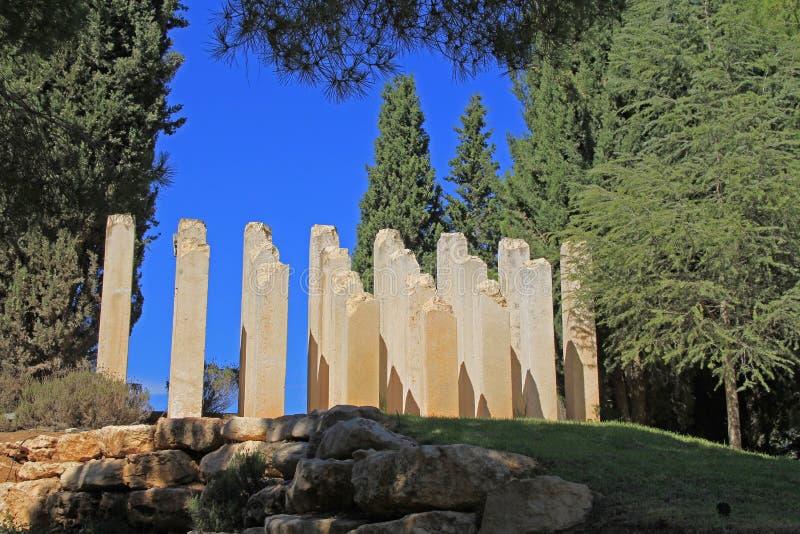 对被谋杀的孩子的犹太纪念品由纳粹 库存照片