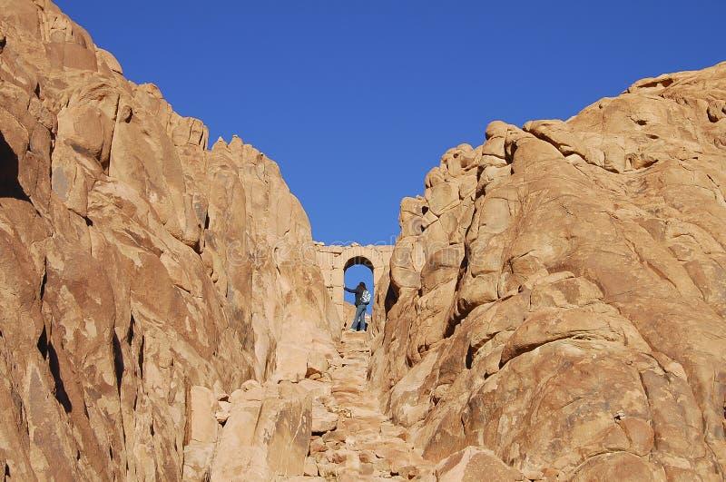 对西奈山上升-埃及的门 库存图片