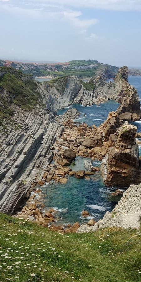 对西班牙的北部的旅行 库存图片
