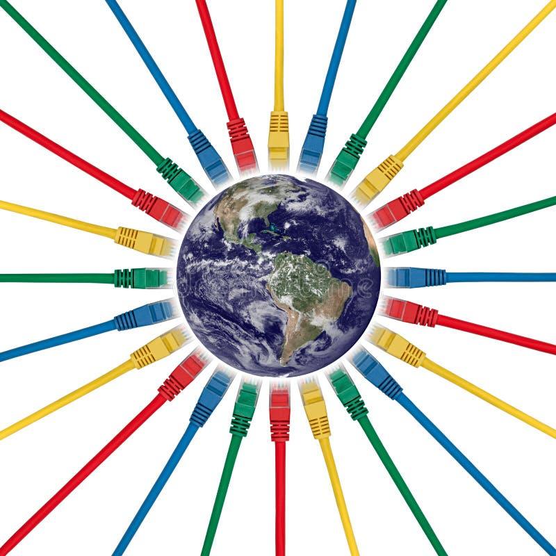 对西部的被连接的半球网络插件 免版税库存图片
