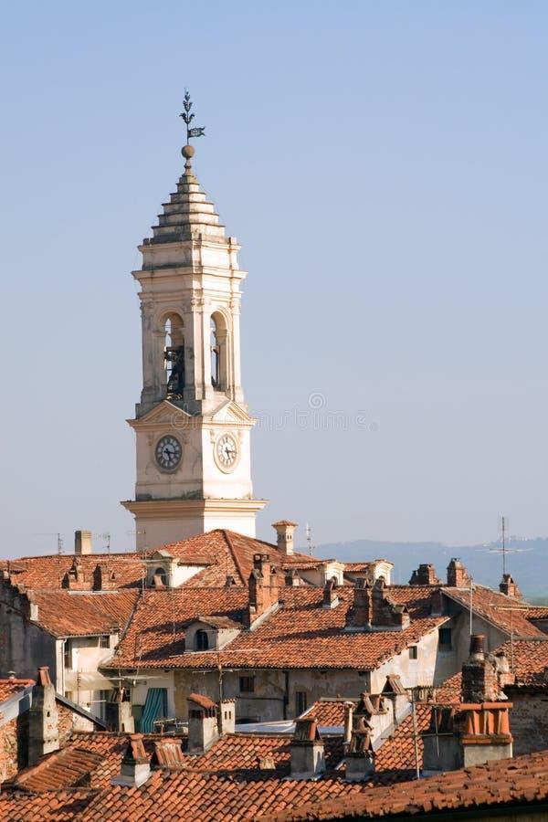 对视图的意大利ivrea 库存照片