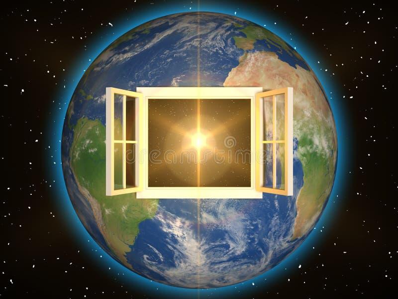 对视窗的空间 皇族释放例证