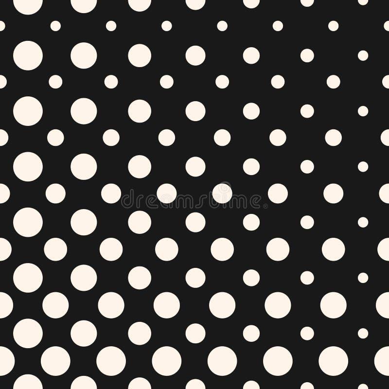 对角中间影调加点传染媒介无缝的样式 圈子纹理 向量例证