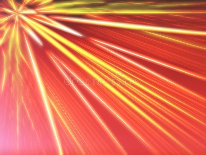 对角减速火箭的拱廊光芒例证背景 皇族释放例证