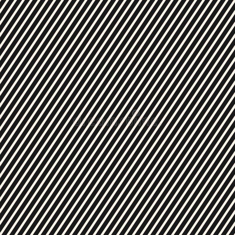 对角条纹样式 传染媒介无缝的镶边纹理,稀薄的线 向量例证