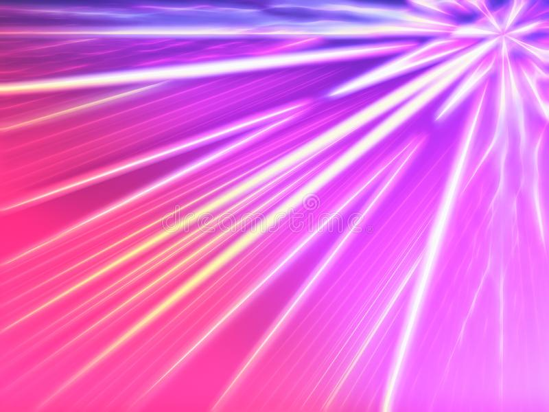 对角桃红色减速火箭的拱廊放光例证背景 库存例证