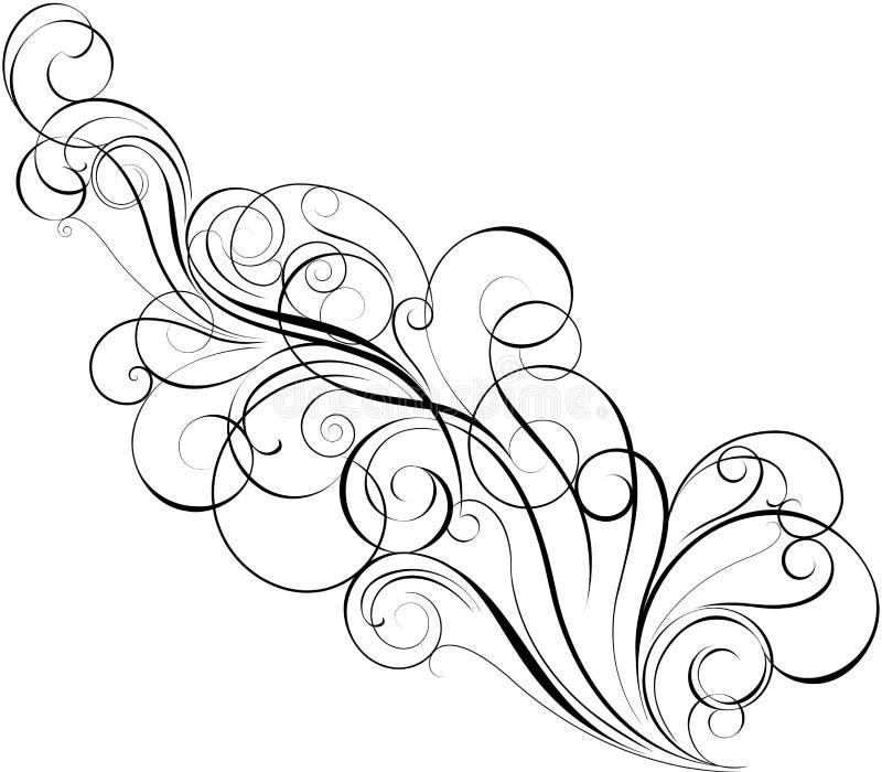 对角漩涡设计 库存例证