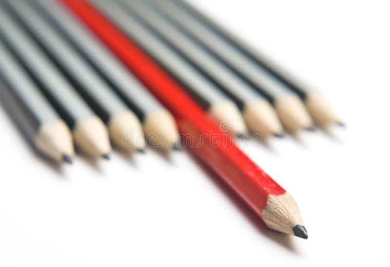 对角灰色组书写红色严密 免版税库存照片