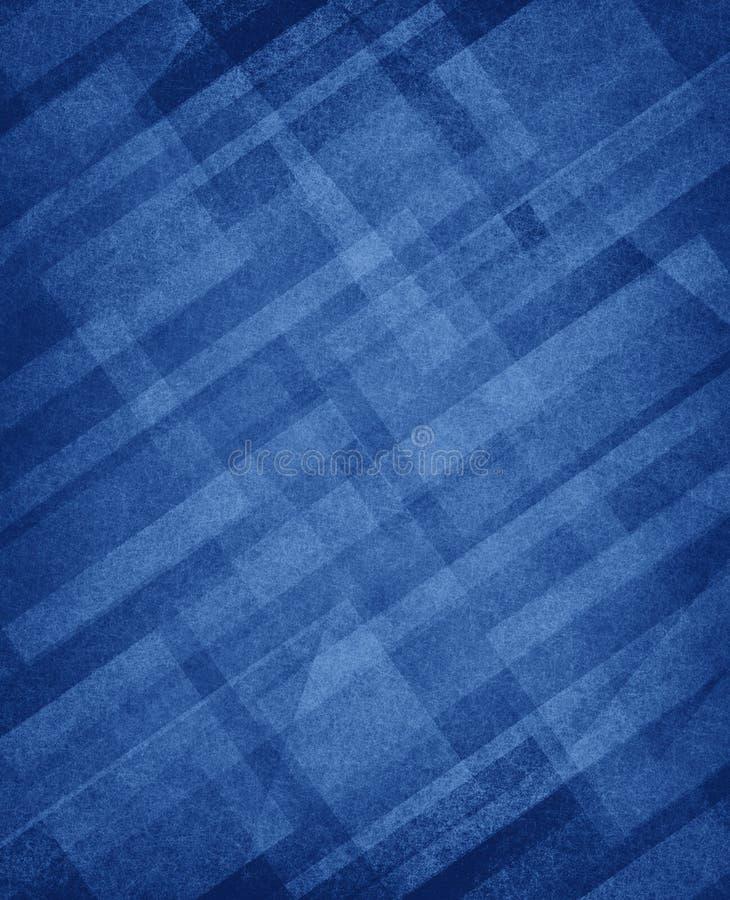 对角白色长方形在主要蓝色背景分层堆积 皇族释放例证
