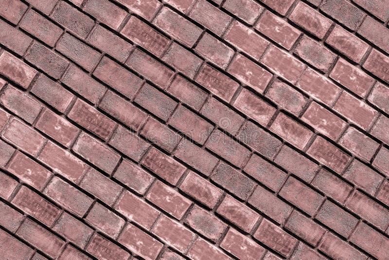 对角盘区褐色红色赤土陶器长方形砖墙长方形石墙强有力的风化表面 图库摄影