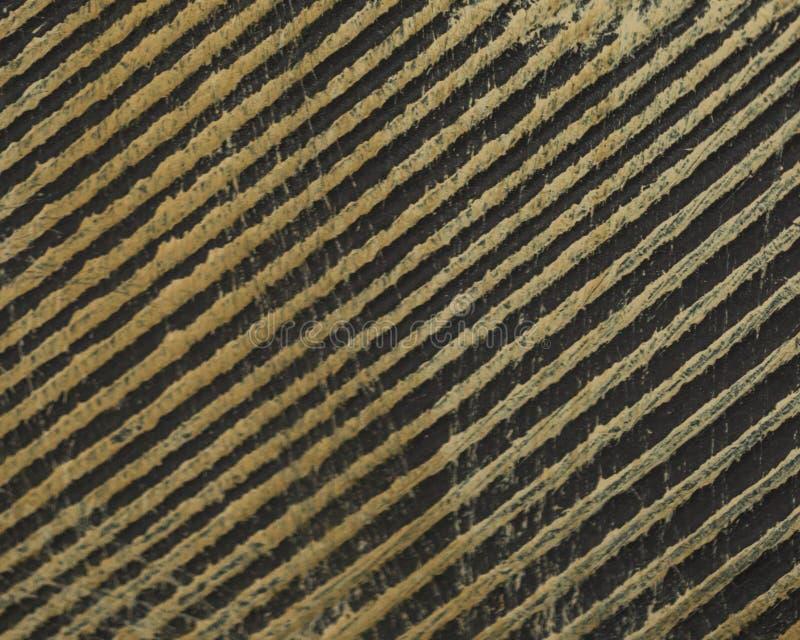 对角线在木头的困厄的线 图库摄影