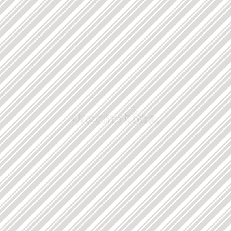 对角线镶边无缝的样式 微妙的灰色和白色传染媒介线纹理 皇族释放例证