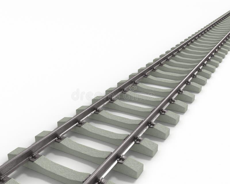 对角长的铁路运输 皇族释放例证