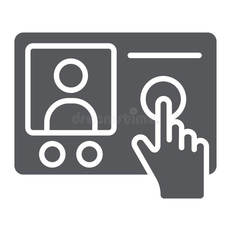 对讲机电话纵的沟纹象,通信和电子,电话标志,向量图形,在白色的一个坚实样式 皇族释放例证