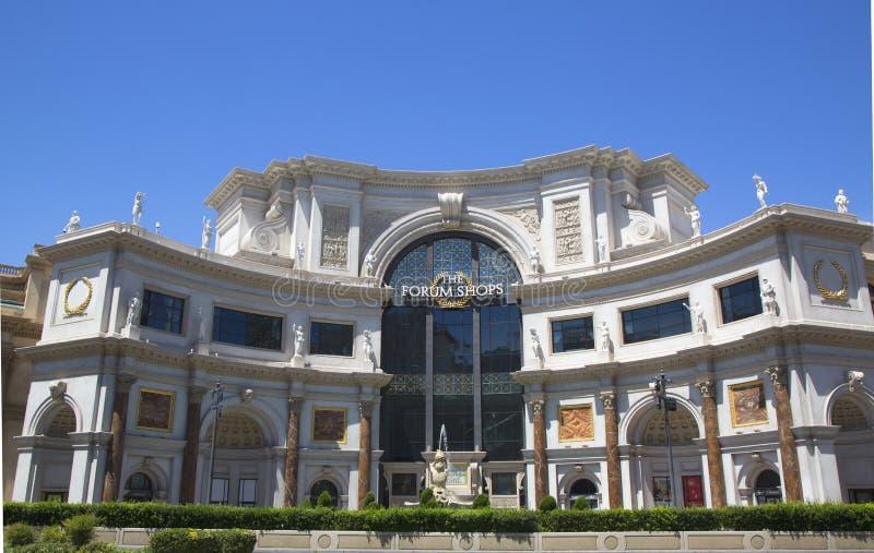 对论坛的入口在凯撒宫拉斯维加斯旅馆&赌博娱乐场购物 免版税图库摄影