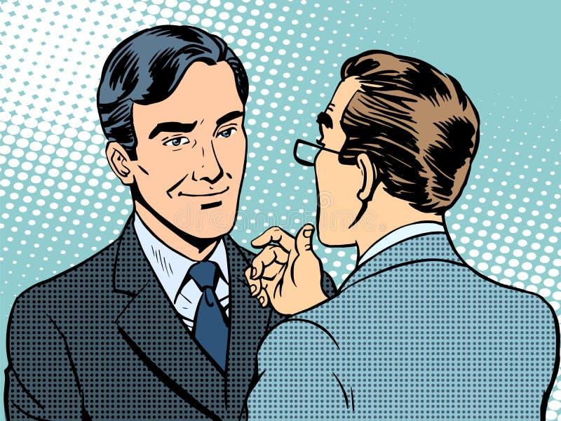 对话交谈商人 库存例证