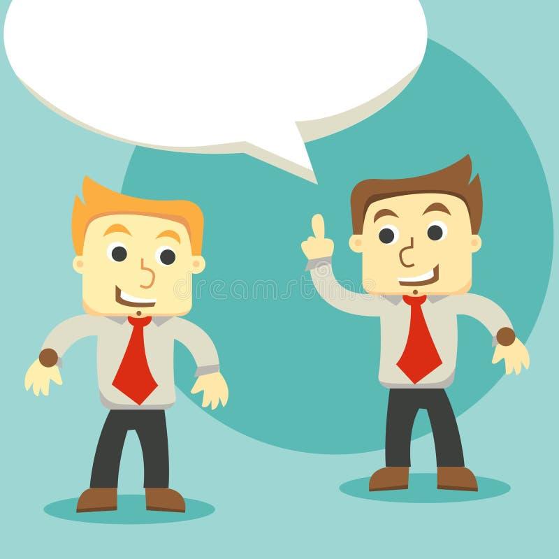对话商人,两个商人谈论 向量例证