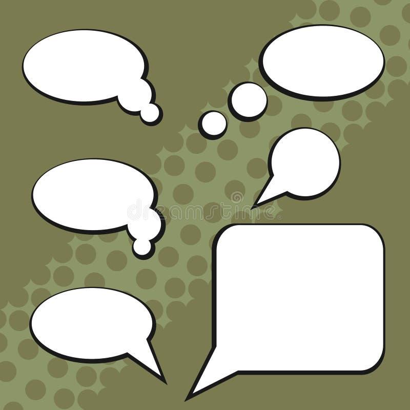 对话的云彩 库存例证