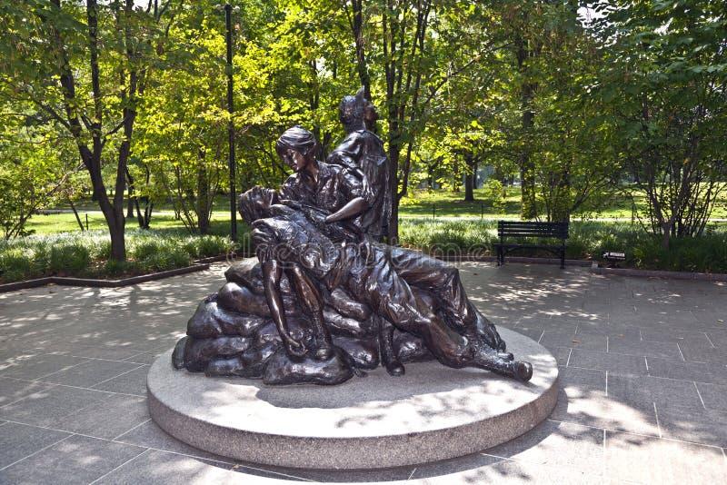 对越南战争的纪念雕象 库存照片