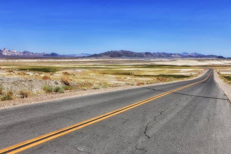 对路的看法在肖松尼人,美国 图库摄影