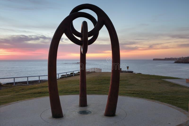 对轰炸Coogee澳大利亚的巴厘岛的受害者的纪念品 免版税库存照片