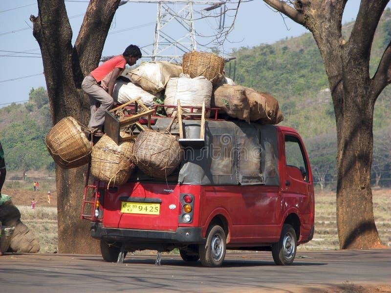 对运输的印第安市场 库存图片