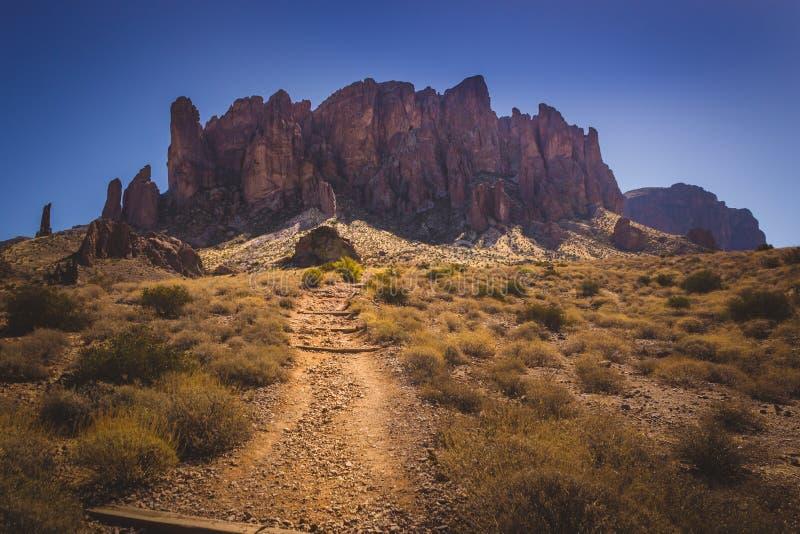 对迷信山的足迹 库存照片