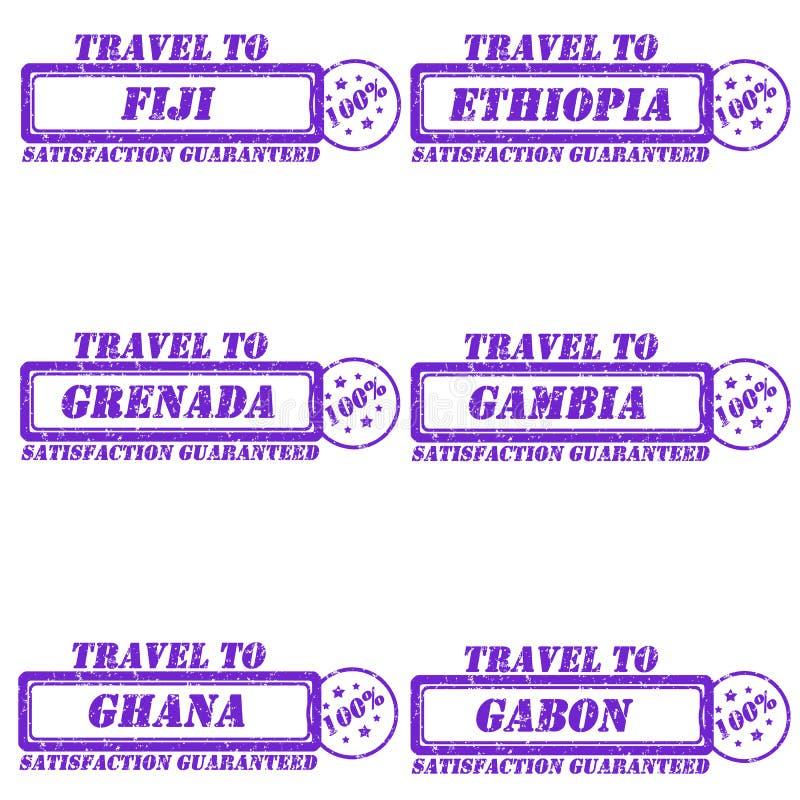 对邮票的旅行 向量例证