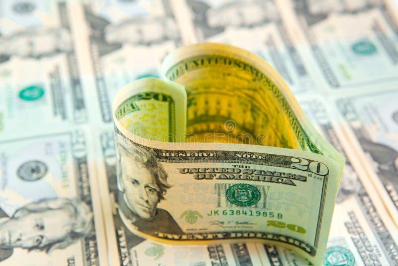对金钱的爱 免版税库存照片