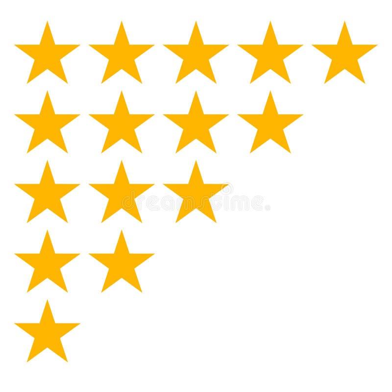 对金黄被隔绝的象估计的五个星 也corel凹道例证向量 库存例证