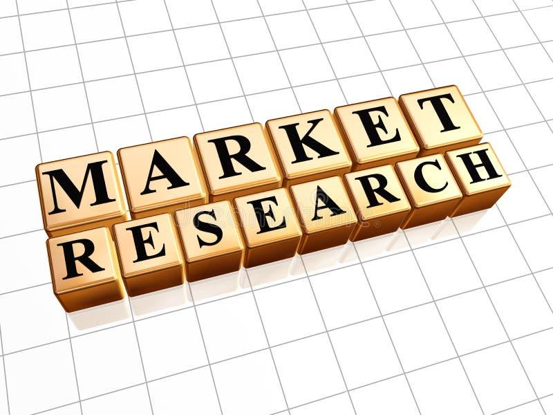 对金黄立方体的市场研究 向量例证