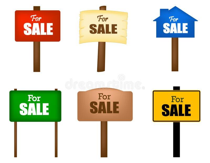 对销售布告牌 库存例证