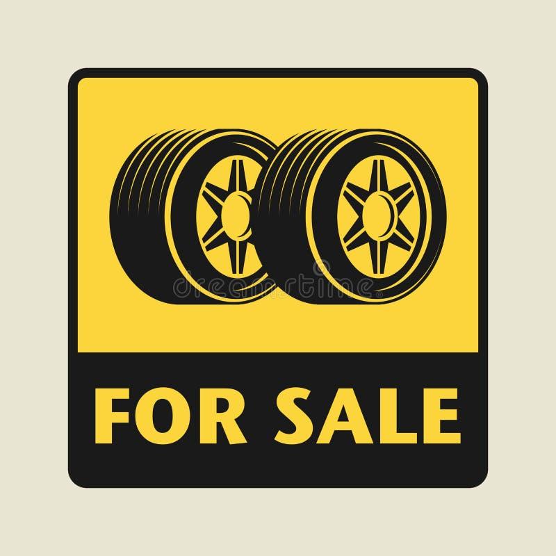 对销售象或标志 皇族释放例证