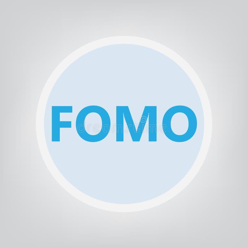 对错过概念的FOMO恐惧 库存例证