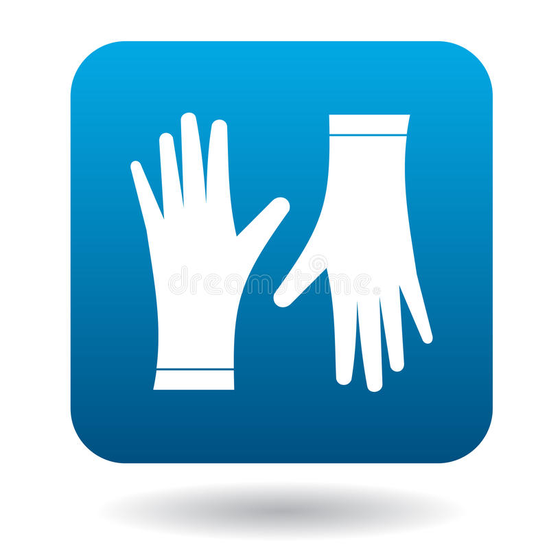 对防护手套象,简单的样式 库存例证