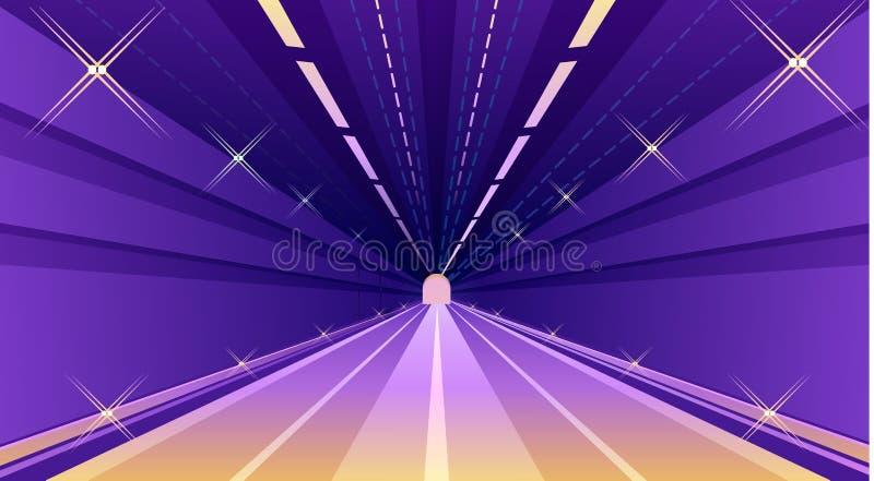 对隧道的入口 皇族释放例证