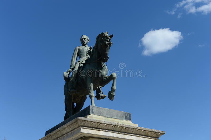 对霍安Take将军的纪念碑在城堡公园 免版税库存图片
