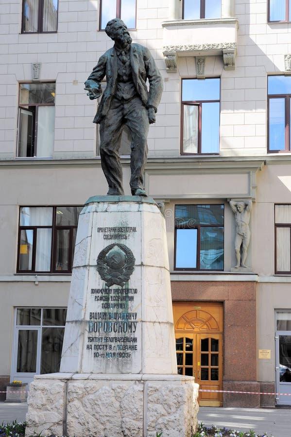 对革命家和外交官Vaclav Vatslavovich Vorovsky的纪念碑在莫斯科 图库摄影
