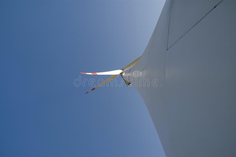 对风轮机的动叶片的看法 免版税库存图片
