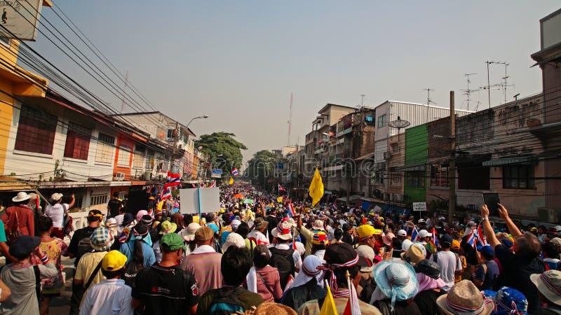 对香港礼宾府的泰国抗议者行军 图库摄影