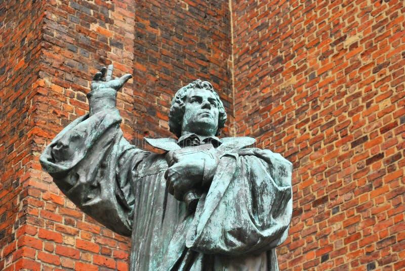 对马丁Luther的纪念碑 免版税图库摄影