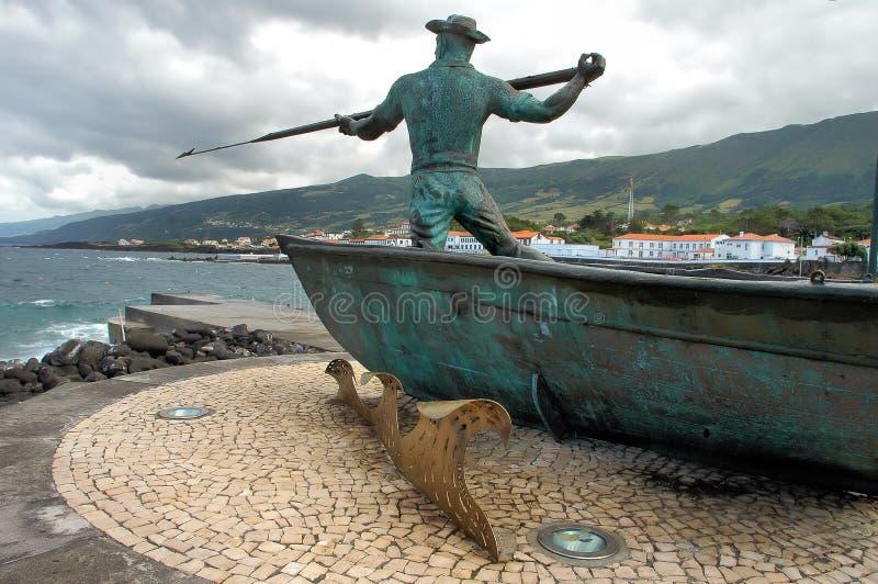 对鲸鱼的渔夫纪念碑 免版税库存图片