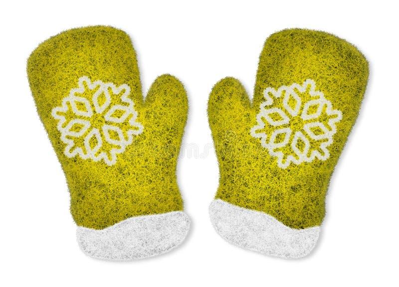 对黄色手套 图库摄影