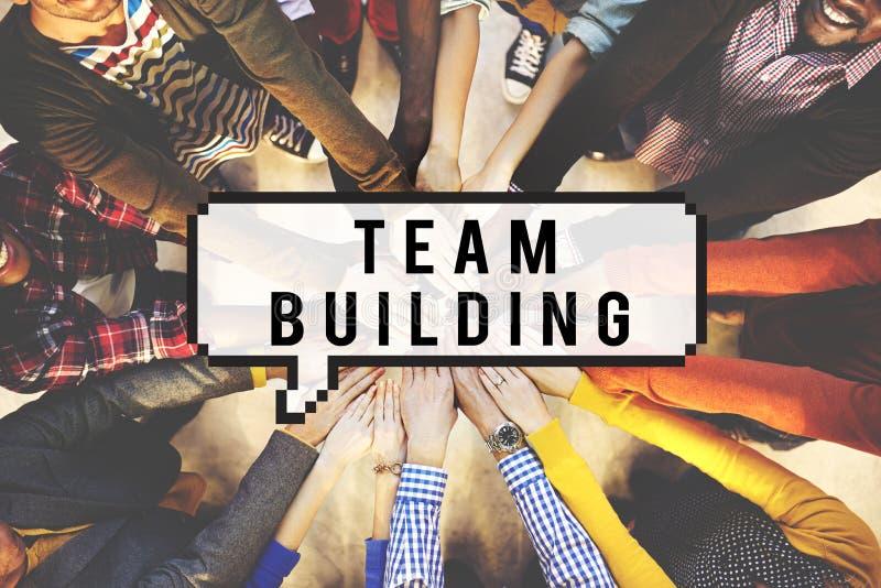 对组织工作合作企业团结小组概念 免版税库存照片