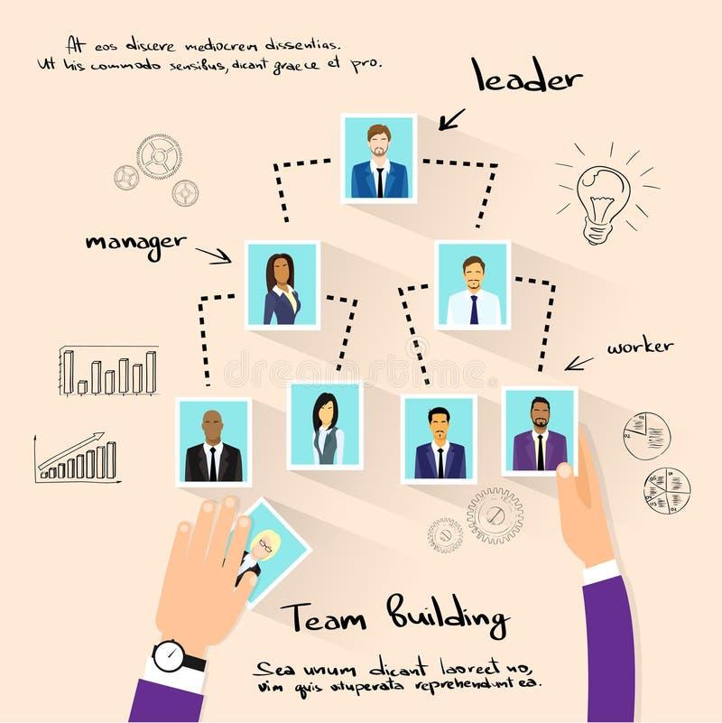 对组织工作概念递照片企业人 向量例证
