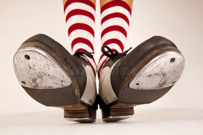 对轻拍鞋子 图库摄影