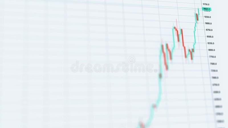 对9000美元的Bitcoin隐藏资产价上升在一个看涨上升 库存例证