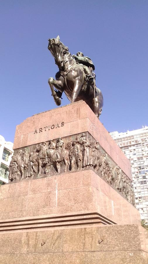 对Artigas的纪念碑 库存图片