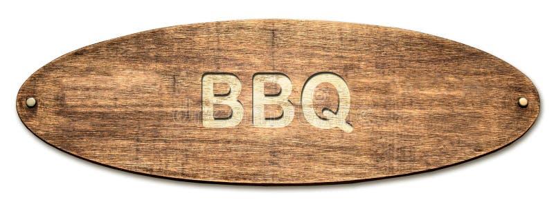 对BBQ的路牌 库存照片