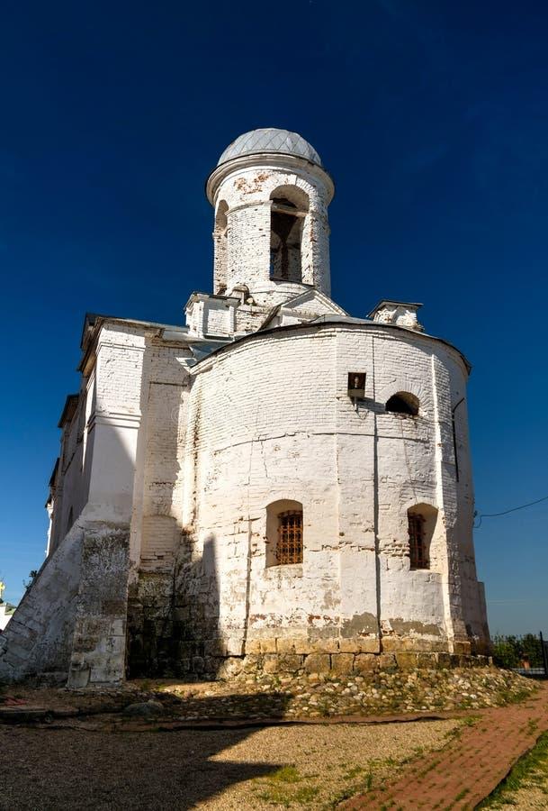 对belltower约阿希姆和安娜教会mozhaysk,莫斯科地区,俄罗斯的外视图 免版税库存图片